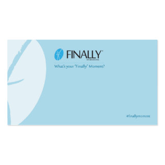 Finally Independent Associate Basic Blue-BC Pack Of Standard Business Cards
