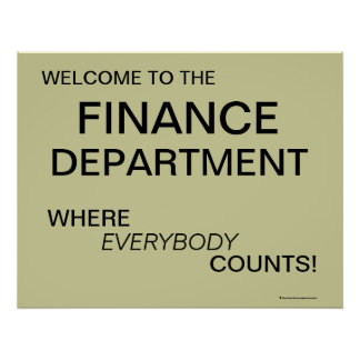 Finance Department Poster