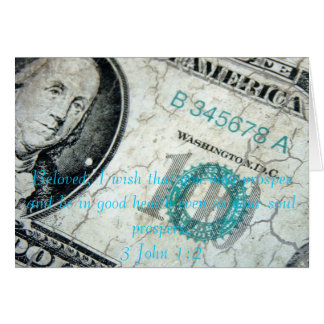 Financial prosperity card