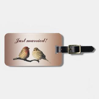 Finches Wedding Luggage Tag