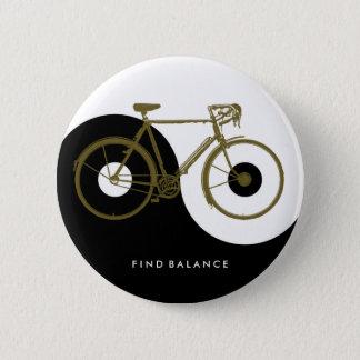 FIND BALANCE / yin yang bicycle 6 Cm Round Badge