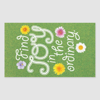 Find Joy in the Ordinary Inspirational Rectangular Sticker