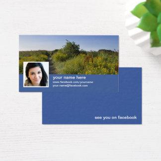 Find me on facebook CC0417 Business Card