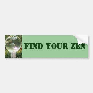 Find Your Zen bumper sticker