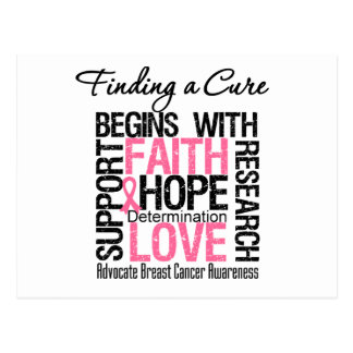 Finding a Cure For Breast Cancer Postcards