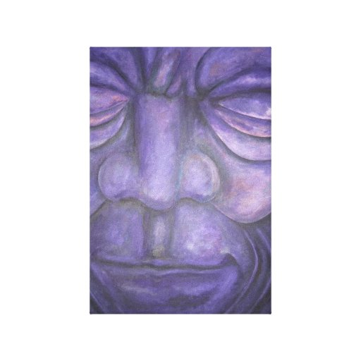 fine art painting - purple touch stretched canvas print
