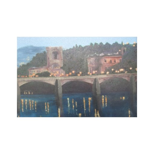 Fine art  Ponte Vecchio  Italy  Florence Paintings Stretched Canvas Prints