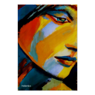 Fine Art  Prints - Vibrant colored paintings Poster