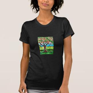Fine Jersey Short Sleeve T-Shirt w/Tree Art