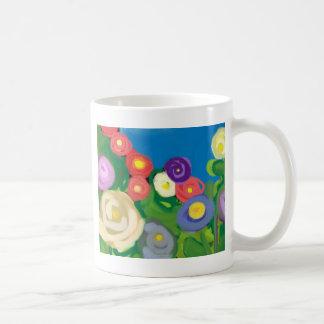 finger-paint-garden basic white mug