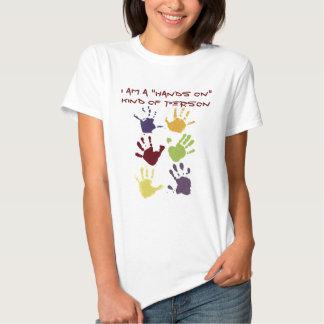 Finger Paint Hand Print Tee Shirt