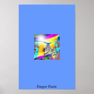 Finger Paint Poster