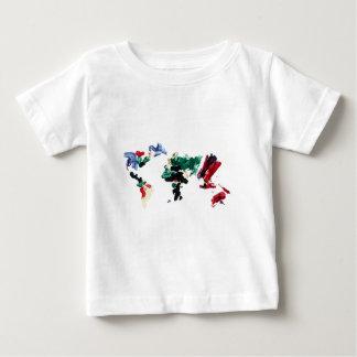 Finger Paint World Map Tshirt