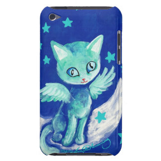 Finger Painted Kitty Cat On Moon With Stars iPod Touch Case
