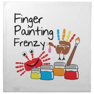 Finger Painting Printed Napkin