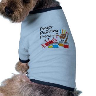 Finger Painting Ringer Dog Shirt