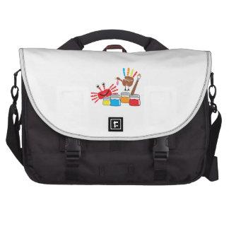 Finger Painting Laptop Bag