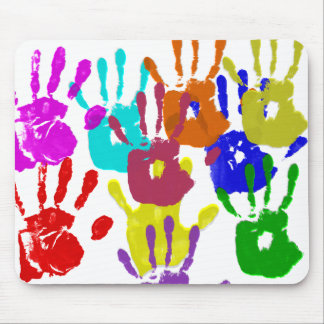 Finger Painting Mouse Pad