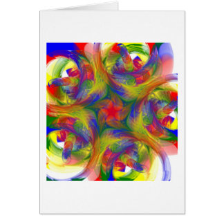 Finger Painting Note Card