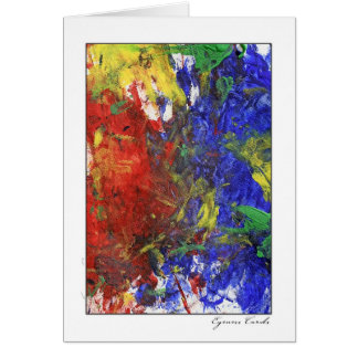 Finger Painting One Greeting Card