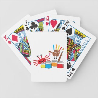 Finger Painting Bicycle Playing Cards