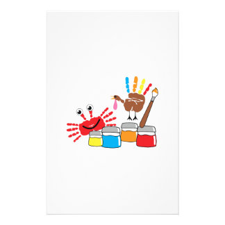 Finger Painting Personalized Stationery
