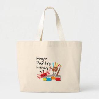 Finger Painting Jumbo Tote Bag