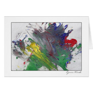 Finger Painting Two Card