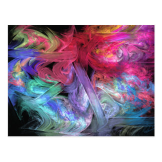 Finger Paints Abstract Fractal Art Post Card