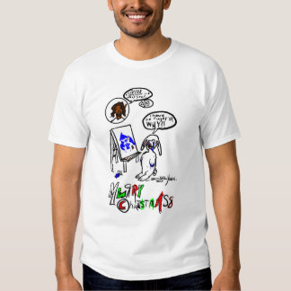 Fingerpainting Bunny Christmas Shirt