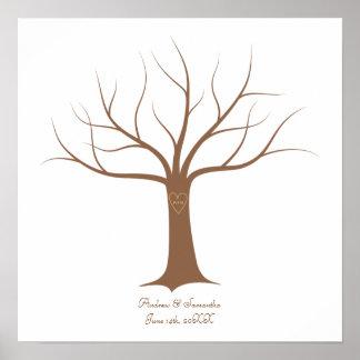 Fingerprint Tree Wedding Guestbook
