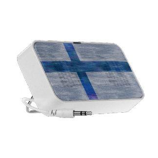 Finland distressed Finnish flag Mp3 Speaker
