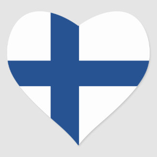 Finland/Finnish/Finn (Civil) Heart Flag Heart Sticker