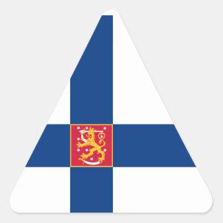 Finland/Finnish/Finn Flag Triangle Sticker