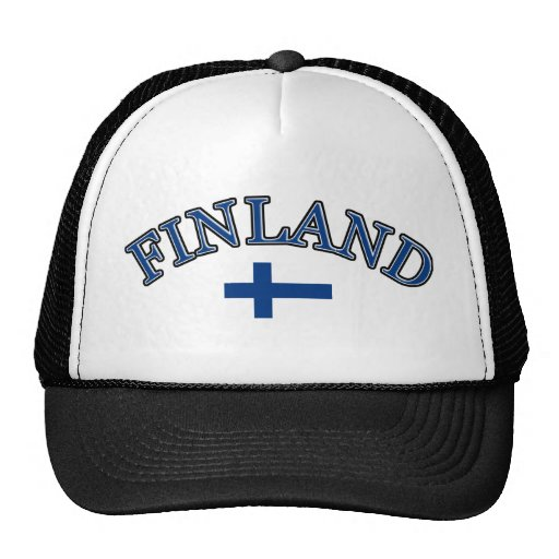 Finland football design hats