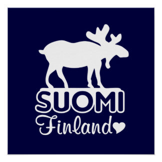 Finland Moose poster