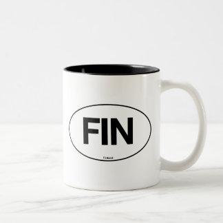 Finland Oval Two-Tone Coffee Mug