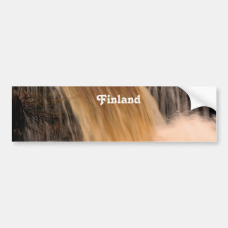 Finland Waterfall Bumper Sticker