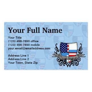 Finnish-American Shield Flag Business Card