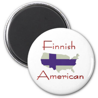 Finnish American (USA Map) Magnet