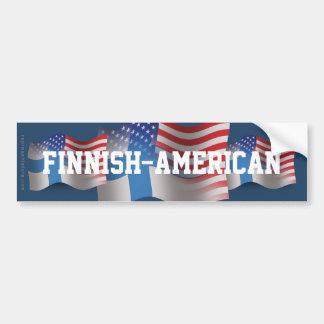 Finnish-American Waving Flag Car Bumper Sticker