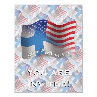 Finnish-American Waving Flag 4.25x5.5 Paper Invitation Card