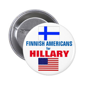 Finnish Americans for Hillary 2016 6 Cm Round Badge