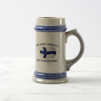 Finnish and Perfect 18 Oz Beer Stein