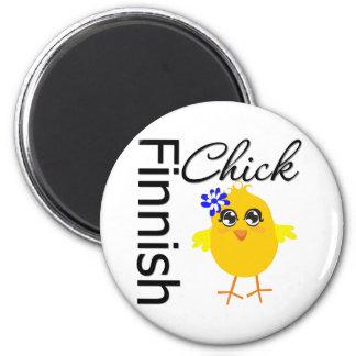 Finnish Chick 6 Cm Round Magnet