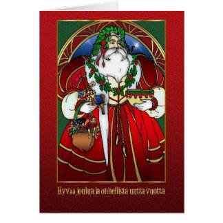 Finnish Christmas Card - Santa Claus -Hyvää joulua