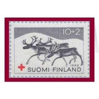 Finnish Christmas Reindeer Card