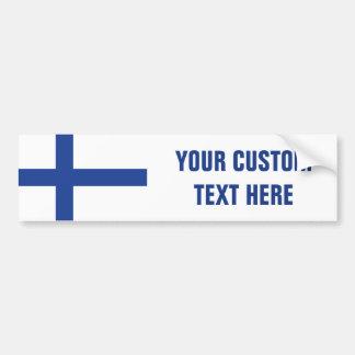Finnish Flag custom bumpersticker Bumper Sticker