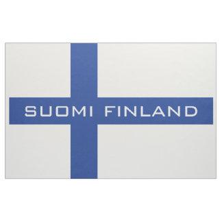 Finnish flag custom fabric