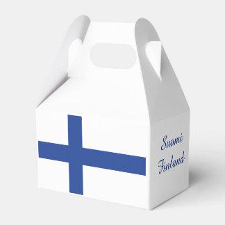 Finnish Flag custom favor boxes Favour Box